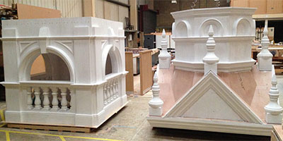 bespoke joinery for school bell tower reconstruction